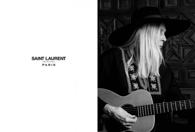 Джони Митчелл в Saint Laurent's Music Project